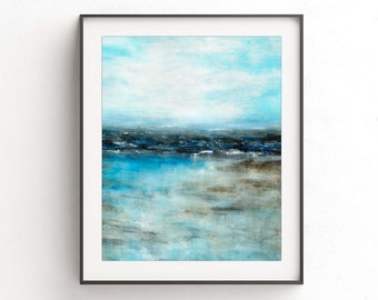 Landscape print printable art wall decor instant download blue art print abstract seascape print modern interior design artwork home decor