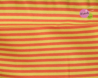 Lille fabric organic cuff stripes orange yellow