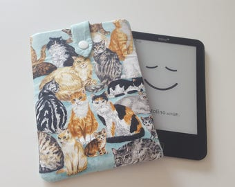 Covers eBook reader cat colorful fabric Talukder Kindle Paperwhite / Tablet