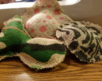 Cat toys! 100% organic catnip, burlap, hand made. (3 pack)