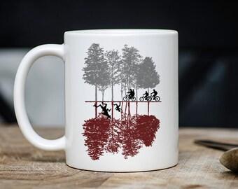 Funny Nerdy Coffee Mug - Stranger Things The Upside Down Novelty Coffee Mug - 11 Ounce Coffee Tea Cup - Cute Geek Gift - TV Teacup Gift
