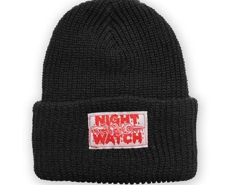 NIGHT WATCH Black Beanie