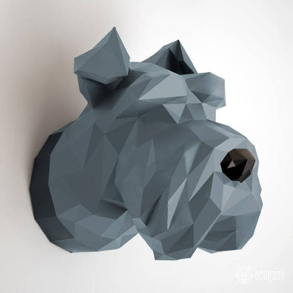Make Your Our Schnauzer Head Diy Amp Papercraft Wall Mount
