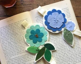Wool Felt Flower Bookmark Bundle