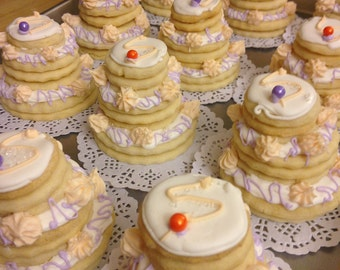 Custom Tiered Wedding Cake Cookies