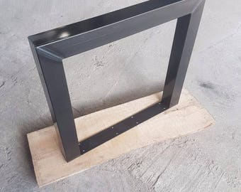 Table frame 1 some 73-80 cm clear coat industrial design 80-80 metal table legs