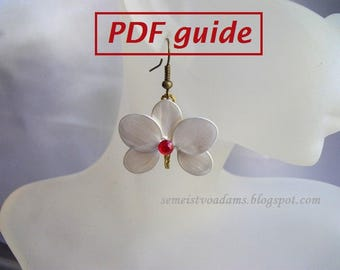 Simple wire orchid earrings with nail polish tutorial PDF