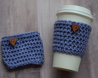 Coffee Cozy - Easter Gift - Eco Friendly - Gift For Her - Coffee Enthusiast - Teacher Gift -  Boba Tea - Iced Coffee - Bubble Tea