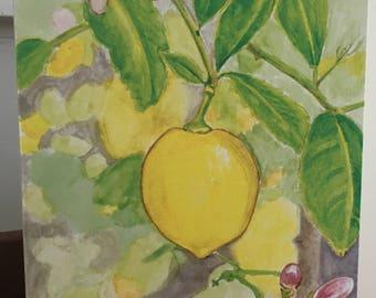 note cards:  lemon tree