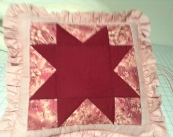 Quilted star pillow