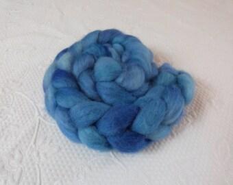 Eider wool 150 g hand dyed blue as the summer sky blue light blue
