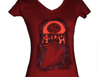Red Riding Hood hand-painted t-shirt