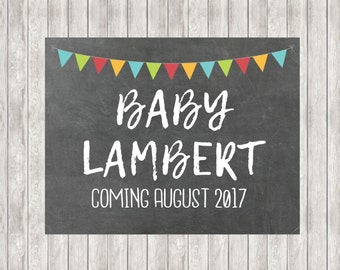Digital Pregnancy Announcement | Baby Announcement