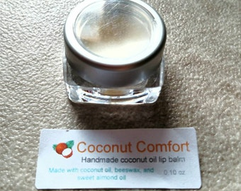 Handmade coconut oil lip balm.  0.1oz