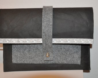 Tablet, business bag, made of felt and Snappap
