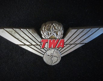 TWA Airline 1960s Pin Handout to Children Airline Passengers Vintage