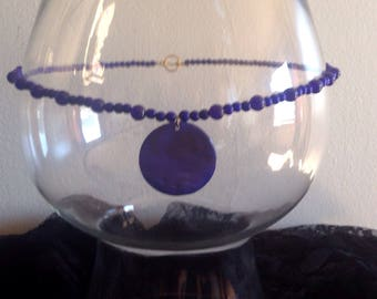 Blue Moon Shell Necklace
