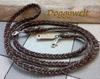 Tau dog leash - adjustable, flat woven