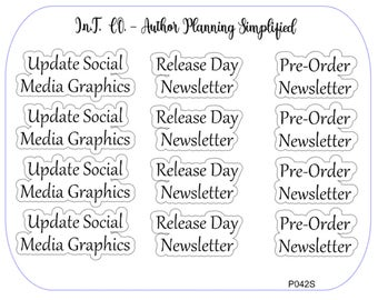 Author Planner Stickers - Word Sheet 7