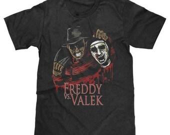 Freddy Vs. Valek T-Shirt Freddy Krueger Valek Nightmare on Elm Street The Conjuring (Licensed) Available in Adult & Youth Sizes