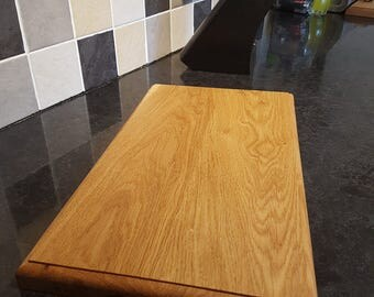 Large solid oak chopping board