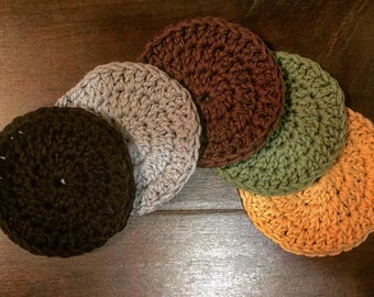Crocheted coasters set of four