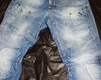 g star jeans real nice baby blue taper fit