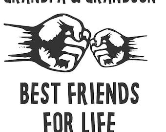 Grandpa and grandson Best Friend T-Shirt