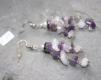 Earrings as eye-catcher with amethysts ø19