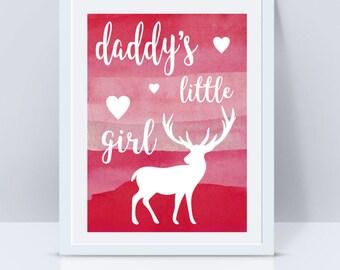 Daddys Girl, Daddys Little Girl, Wall Art Prints, Nursery Wall Art, Digital Art, Quote Prints, Nursery Wall Decal, Nursery Art, Printable
