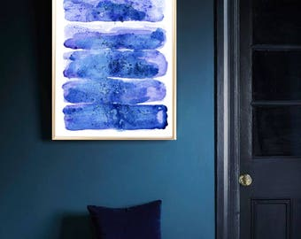 Abstract art print Blue Abstract poster Abstract watercolor print Abstract painting Abstract room decor Abstract home decor Abstract art