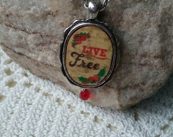 Live Free Inspiration Necklace