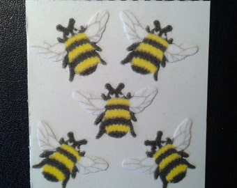 Sandylion Stickers Fuzzy Bee, Bees  (1 mod)