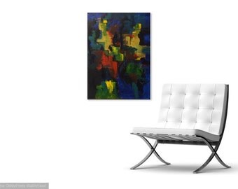 Majestic Bell of Bolts, Abstract Acrylic Art, Wall Art