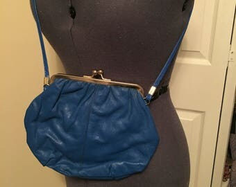 Italian learhwr and lucite blue bag 1980