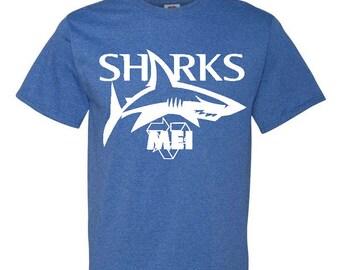 MEI Sharks Baseball Fan Tee