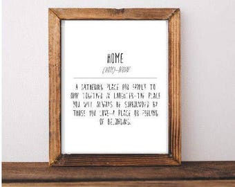 Home Definition Printable