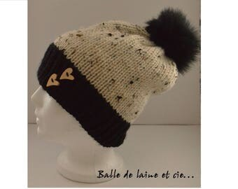 Knitted hat wool for women