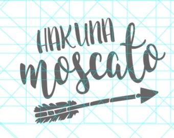 Hakuna Moscato SVG - Wine Svg - Cricut SVG - Silhouette File -  SVG Cut File