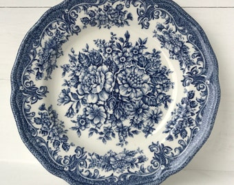 Blue and white side plate 'Avondale Ironstone' by J & G Meakin for Royal  Staffordshire, England