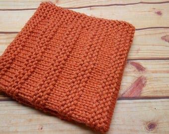 Knitted cover orange Brulé