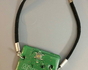 Homemade circuit board bracelet from 360 xbox