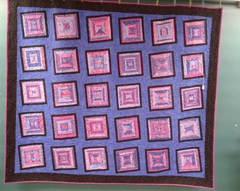 Strip Quilt is shades of Purple