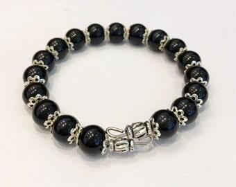 Black/Silver dress bracelet