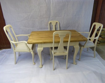 NOW ** SOLD**  Hand Made Table Top and Chairs