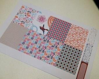 Bright Paisley Weekly Kit