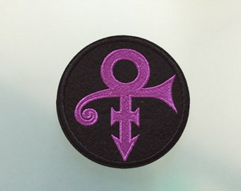 "PRINCE PURPLE PATCH - Embroideed Iron On Patch - 3"" - The Artist"