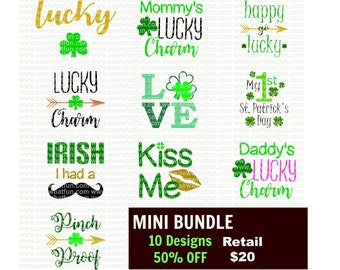 St Patricks Day SVG, cutting file, vinyl file, svg, st patricks, svg file, cameo file, cricut file, cricut design, st patricks cameo, bundle