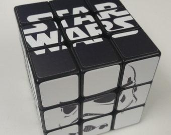 Star Wars cube puzzle with stand - unique, fun, original, retro