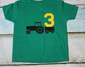 Toddler Tractor Shirt Tailor Tractor Tshirt Youth Shirt Birthday Shirt Personalized Shirt